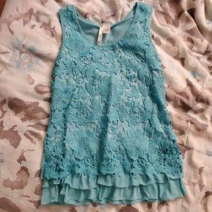 Beautiful blue lace top
